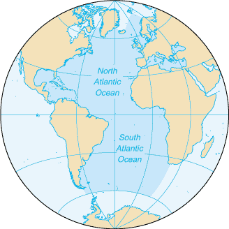 Eastern Hemisphere Map With Names The Atlantic Ocean | G...