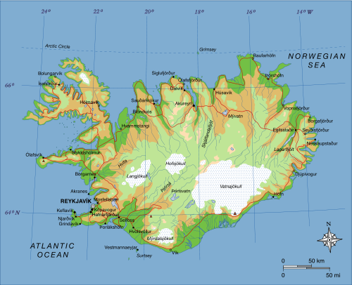 Iceland Physical Geography And Volcanic Activity