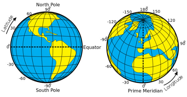 Latitude longitude and time zones the earths coordinate system longitude and latitude ccuart Choice Image