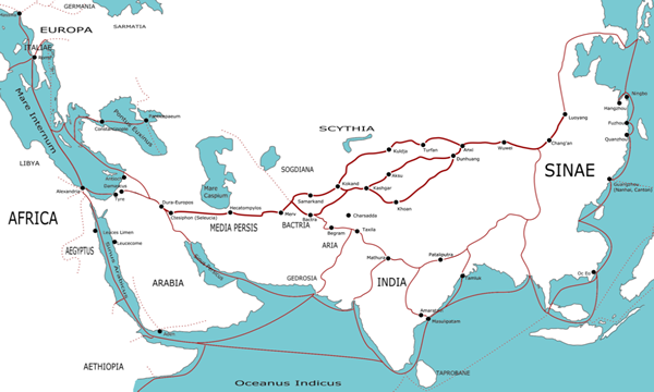 The Silk Road Ancient Trading Route Between Europe And Asia