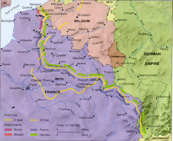 Map Of The Western Front