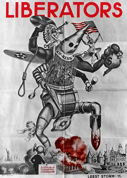 Nazi propaganda during World War II - It shows Americans as a monster who