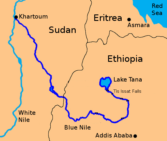 Quarrel Over Nile River Water - Nile river location on world map